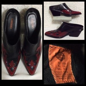 Ladies Harley-Davidson Leather Flame Clog  7.5 NEW